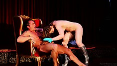 Driven by her commitment to pleasure, she rides his dick with joy and passion