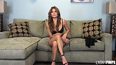 Charmane Star looks hot in her sexy bra and panties till she begins to take them off