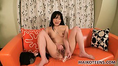 Sexy Asian Riho cums easily and often when her clit is stimulated