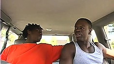 Two black studs with worked out bodies go on a blind date and have hot sex