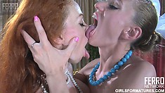 Two lesbian friends get rid of their clothes and enjoy the taste of each other's cunts