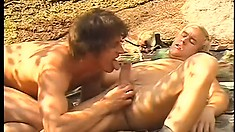 Horny army dude gets his tight ass fucked twice in a day and fully enjoys it