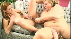 Pussy-loving lesbians get into an out-of-control hot threesome