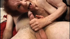 Linda may be an old granny, but she sure has a surly snatch for horny old men