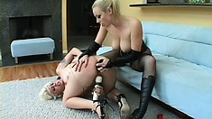 Wild Adrianna knows how to satisfy her lovers with a strap-on