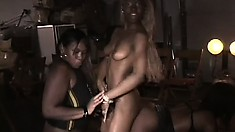 Amber Swallows loves to play with some smoking hot black pussy