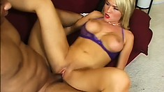 Sexy blonde doctor Krissy Lynn gives her hung patient some relief