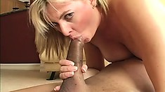 Crazy and lusty blonde wants to get plowed until she cums hard