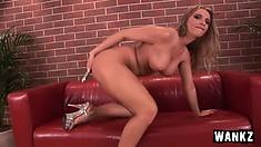 Extremely good big-breasted slut Francesca Fellucci does cool masturbation scene