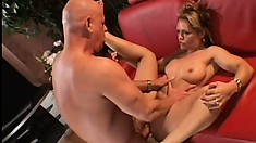 Extremely tasty milf gives nice blowjob and gets rough fucking