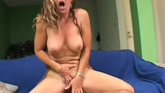 Sexy blonde Milf gets her black fuck buddy to give her a good fucking