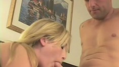 Gorgeous blonde goes on a blind date and ends up getting fucked deep